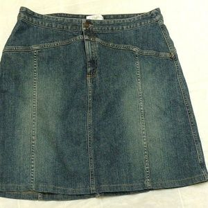 CJ BANKS DENIM  Stretch JEAN SKIRT 18 W